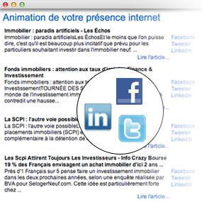 animation présence sur internet